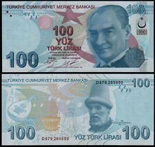 More details for turkey 100 lira (p226c) 2009 (2017) unc