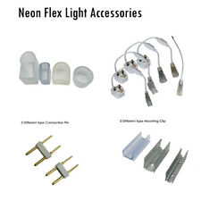 LED STRIP NEON FLEX ROPE LIGHT ACCESSORIES POWER ADAPTER CONNECTING PIN CLIP CAP
