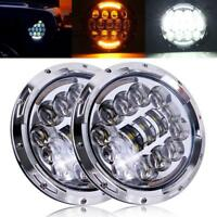 Pair Chevrolet Truck 3100 7inch CREE LED Round Headlights Projector Turn Signal