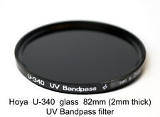 Hoya U-340 82mm x 2mm thick UV Pass Ultraviolet Dual Band IR Filter