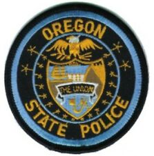 """OREGON STATE POLICE --- STATE POLICE EMBROIDERED PATCH - IRON-ON -- NEW 3"""""""