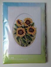 Orchidea Stickpackung Karte mit bedrucktem Aida Sonnenblumen 6099