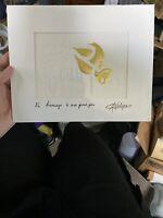 Signed M. LALIQUE en hommage a mon grand pere Gold art nouveau PRINT