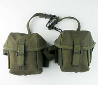 PAIR Vietnam War US Army M16A1 M1956 Pouch Pocket Metal Clasp Canvas Ammo Pouch