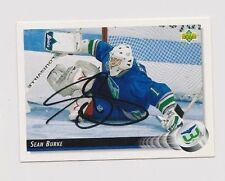 92/93 Upper Deck Sean Burke Hartford Whalers Autographed Hockey Card