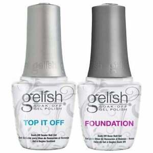 Gelish Soak Off Gel Polish - Dynamic Duo Set - Top It Off & Foundation