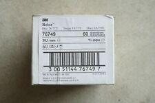 50 Pcs 3m Roloc 76749 Roloc Ts 777f 1 12 60 Grit Yf Abrasive Sanding Discs