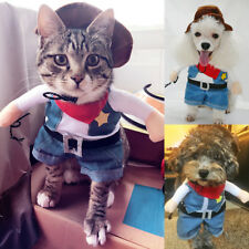 Pet Small Dog Cat Costume Outfit Jumpsuit Clothes For Halloween Christmas S-XL