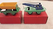 Vintage Hornby Trains 0 Gauge No. 20 Crane Truck & Side Tipping Wagon Boxed VGC