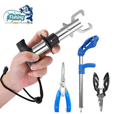 Fishing Pliers Scissors Line Cutter Hook Remover Fish Lip Gripper Grip Tool Set