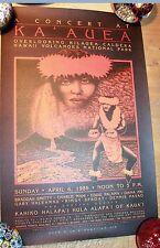 HAWAII concert at ka'auea poster KILAUEA Braddah Smitty Kahiko Hula Nelson Makua