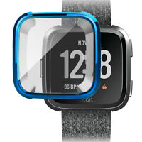 For Fitbit Versa Watch Slim TPU Full Screen Protector Protect Bumper Case Cover
