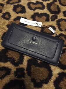 NWT Marc Jacobs NY French Navy Pebbled Leather Slim Wallet