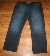 NWT Mens DKNY JEANS Whiskered Dark Denim Straight Leg Jeans Sz 32 W 34 L