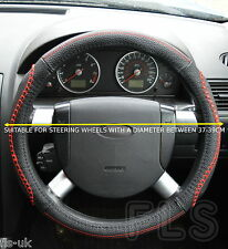 UNIVERSAL DAIHATSU FAUX LEATHER LOOK RED STEERING WHEEL COVER