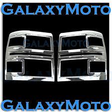 14-15 Chevy Silverado 1500 Extended+Crew Cab Triple Chrome Headlight Trim Cover