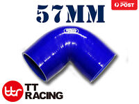 """Silicone Samco 90 Degree Elbow Radiator Hose Turbo Air Pipe 57mm 2.25"""" (3-ply)"""