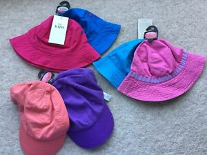 Girls Sun Hats Caps Age 6-10 years. BRAND NEW from Marks and Spencer (set of 6)