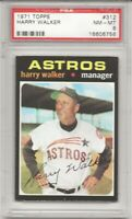 SET BREAK -1971 TOPPS #312 HARRY WALKER, PSA 8 NM-MT ,HOUSTN ASTROS, L@@K