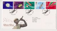 HOOK PMK GB ROYAL MAIL FDC FIRST DAY COVER 2002 PETER PAN STAMP SET