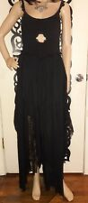 Free People Limited Edition Asymmetrical Draped Tiered Lace Panel Dress Sz Small