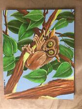 Tarsier Monkey Original 11X14 Acrylic Painting by Kyle Jarboe