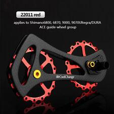 Rear Derailleur Pulley Wheel Drivetrain 17T For SHIMANO 9000 9070 6800 6870 Red