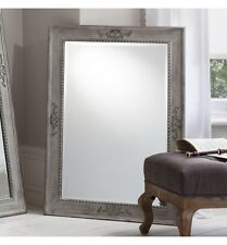"Ellesmere Very Large Vintage Grey Rectangle Overmantle Wall Mirror 43"" x 31"""