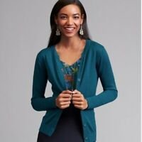Cabi Blue Ever Cardigan Sweater Women's Sz. M Style # 3368