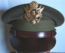 Original WW2 US Army Air Corps Officers Visor Hat - McClellan Field -Extra Cover