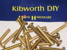 10 x M6 x 8 BRASS PAN HEAD MACHINE SCREWS . 6mm x 8mm