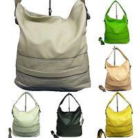 große Damen Tasche Schultertasche Handtasche Umhängetasche Shoppertasche bag 256