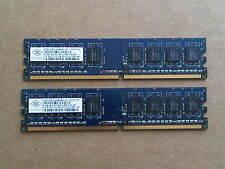 1GB SET - NANYA 512MB X 2 DDR2 PC2-5300U DESKTOP MEMORY RAM - 2 PIECES @ 512MB