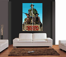 THE GOOD THE BAD THE UGLY CLINT EASTWOOD Giant Colour Wall Art Picture Poster