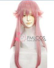 Hot Sell! Anime Mirai Nikki Gasai Yuno Cosplay pink 80cm wig + hairnet H245
