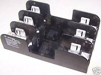 Gould Shawmut Fuse Block Holder, Part # 60308R, 600V, 30A, Used, Warranty