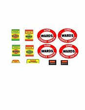 Marx Super Wards Toy Gas / Service Station Decal Set