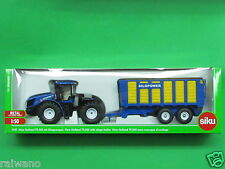 1:50 Siku Farmer 1947 Traktor New Holland T9.560 Knicklenker mit Silagewagen