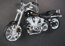 Black 2000 Harley Davidson FXSTD Softail Deuce Motorcycle Christmas Ornament