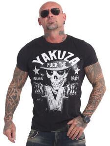 Yakuza Rules T-Shirt Herren,Männer Sport,Freizeit Streetwear Shirt schwarz 17025