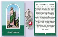 St.Martha Relic Medal with Prayer to Saint Martha