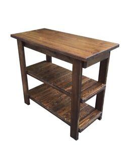 Yukon Kitchen Island (Work Space / Kitchen Storage / Bakers Table / Work Station