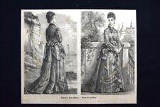 Figurino della Moda - Veste da mattina Incisione del 1875