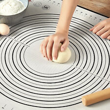 Non-Stick Silicone Baking Mat Extra Large Dough Rolling Pastry Mats Black