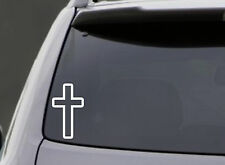 CROSS VINYL DECAL CAR WINDOW LAPTOP BUMPER STICKER GOD CHURCH RELIGIOUS JESUS