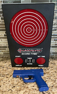 LaserLyte ScoreTyme kit:  LT-TTLC laser pistol & TLB-XL Score Tyme target AS IS