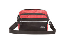 STUSSY x Codura Fibric STOCK LOGO RIPSTOP NYLON Small Shoulder Pack BAG Red