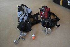 Junior golf bags with six free golf clubs and two golf balls.