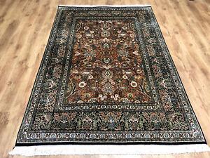 Feiner Perser-Orient Teppich Seidenteppich Kaschmir Seide 220 x 148 Neuwertig