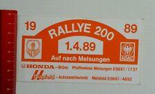 Aufkleber/Sticker: ADAC - Rallye 200 - Melsungen - 1989 (24041694)